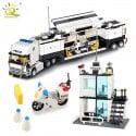 536 piezas estación de policía prisión camiones de construcción bloques compatible legoing ciudad coche barco helicóptero de ...