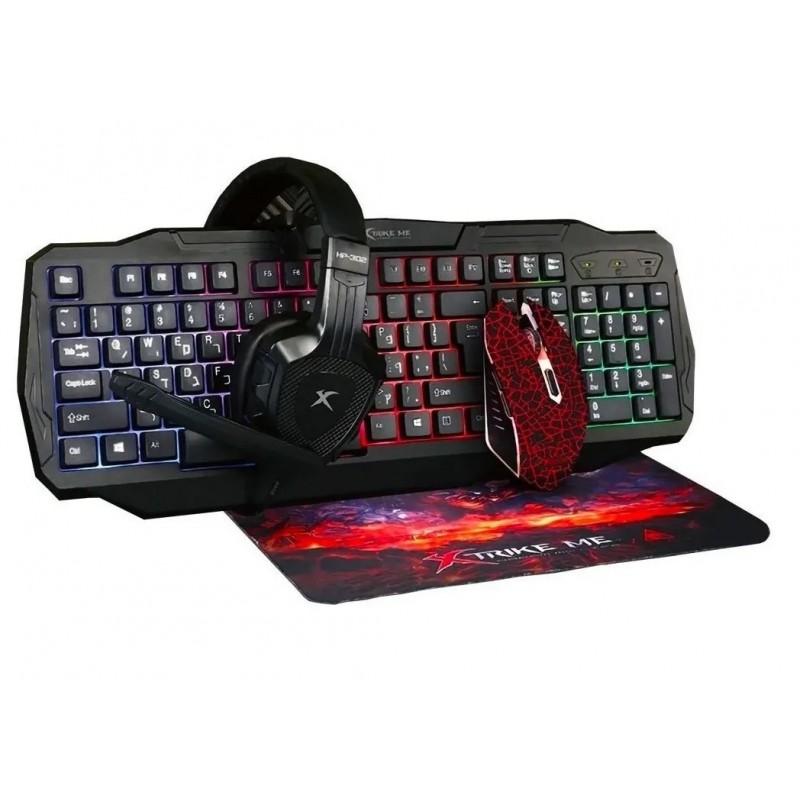 Kit teclado + mouse + audífonos CM400 Tecnología