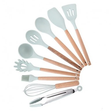 9/10/12 Uds conjunto de utensilios para cocina Premium de silicona utensilios de cocina con caja de almacenamiento tenedores esp