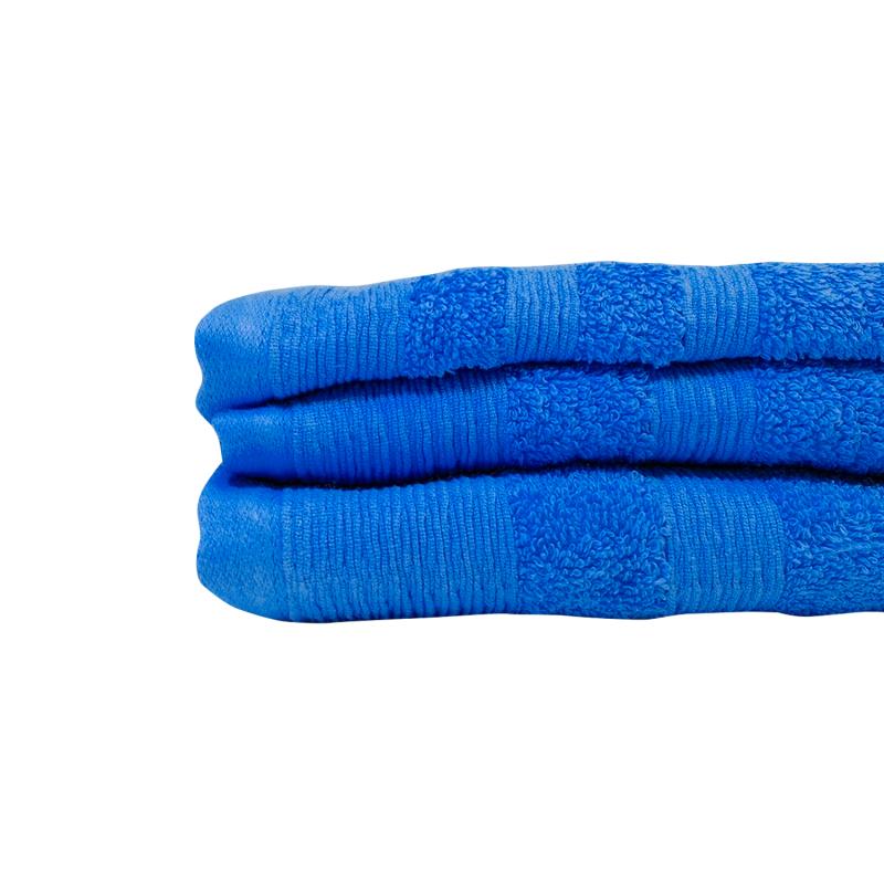 Juego 2 toallas 500 grs 100% algodón Azul Inicio