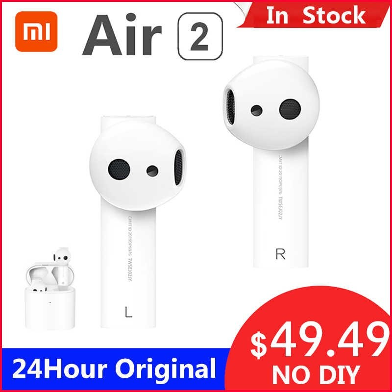 Original Xiaomi 2 TWS Airdots Pro 2 mi aire 1 inalámbrica auriculares ENC Bluetooth 5 Tap Control de voz LHDC Dyna mi c Audíf...
