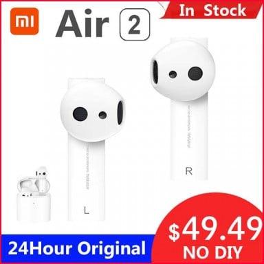 Original Xiaomi 2 TWS Airdots Pro 2 mi aire 1 inalámbrica auriculares ENC Bluetooth 5 Tap Control de voz LHDC Dyna mi c