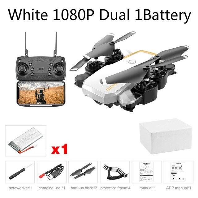 White 1080P Dual 1B